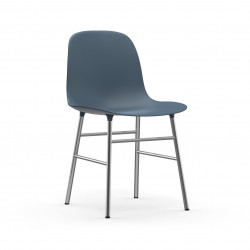Form Chair Chrome, Normann Copenhagen Bleu
