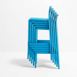 Tabouret Volt 677, Pedrali bleu, hauteur d\'assise 66 cm