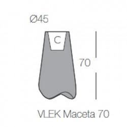 Pot de jardin Vlek diamètre 55 cm, Vondom gris Mat