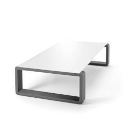 Kama Table Basse Aluminium Givré, Ego Paris Blanc Givré-Acier