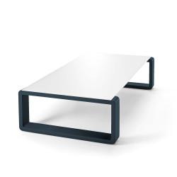 Kama Table Basse Aluminium Givré, Ego Paris Blanc Givré-Outremer