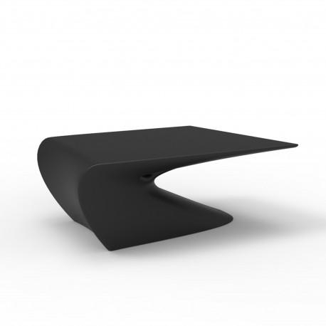 Table Basse Design Wing Vondom Noir Mat Cerise Sur La Deco