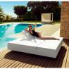 Lit de jardin double design Vela Daybed avec 4 dossiers inclinables, Vondom Blanc Silvertex