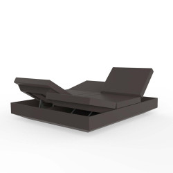 Banquette Vela Daybed avec 4 dossiers inclinables, Vondom Bronze Silvertex, 200x180x40cm