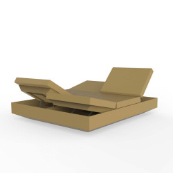 Banquette Vela Daybed avec 4 dossiers inclinables, Vondom Beige Silvertex, 200x180x40cm