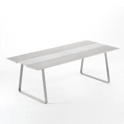 Table Extrados 240 Céramique gris avec Aluminium