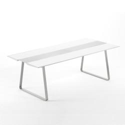 Table Extrados 240 Céramique blanc avec Aluminium