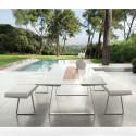 Table Extensible Extrados Medium Céramique blanc et Teck