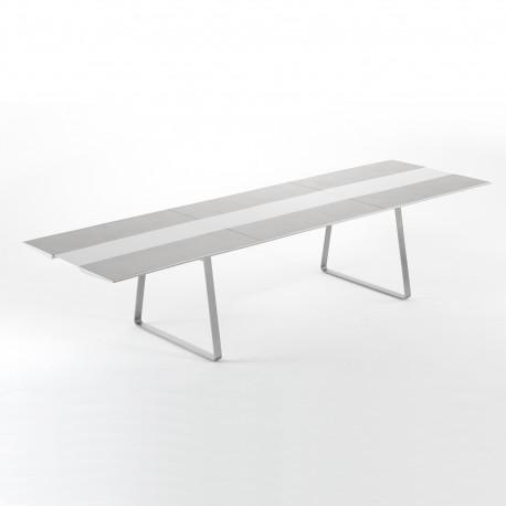 Table Extensible Extrados Large Céramique Gris et Aluminium