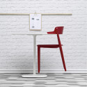 Lot de 2 Chaises bois design Nemea 2825, Pedrali, frêne rouge