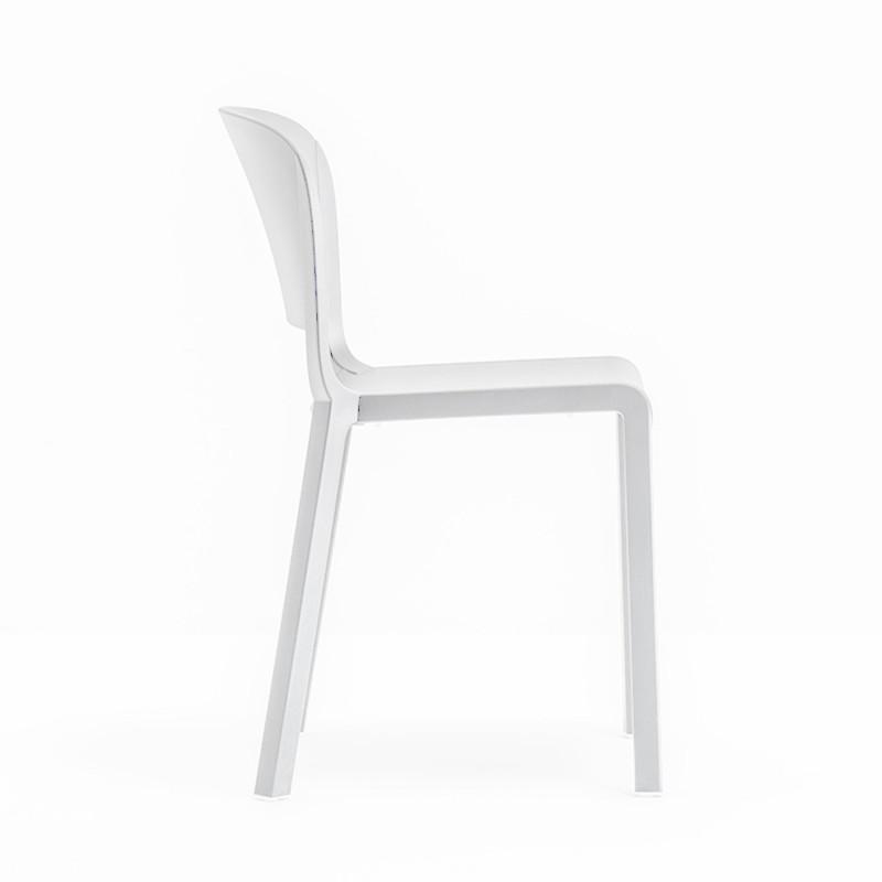 Chaise Bistrot Design Dome 260 Pedrali Blanc