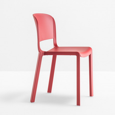 chaise bistrot design dome 260 pedrali rouge - Chaise Bistrot Rouge