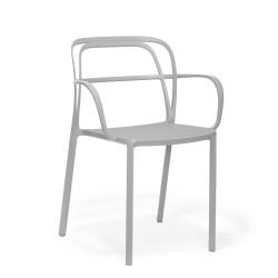 Lots de 2 Chaises aluminium avec accoudoirs Intrigo 3715, Pedrali, beige