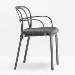 Coussin d'assise 3715.5 pour chaise Intrigo, Pedrali, gris