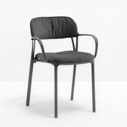 Kit coussin assise et dossier 3715.20 pour chaise Intrigo, Pedrali, gris