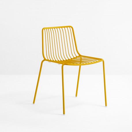 Lot De 2 Chaises Design Filaires Nolita 3650 Pedrali Jaune