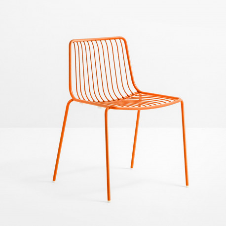 Lot de 2 chaises design filaires Nolita 3650, Pedrali, orange
