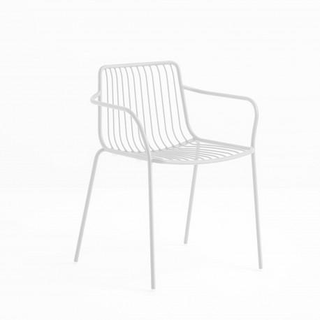Lot de 2 chaises filaires avec accoudoirs, Nolita 3655, Pedrali, blanc