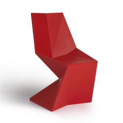 Chaise design Vertex, Vondom rouge