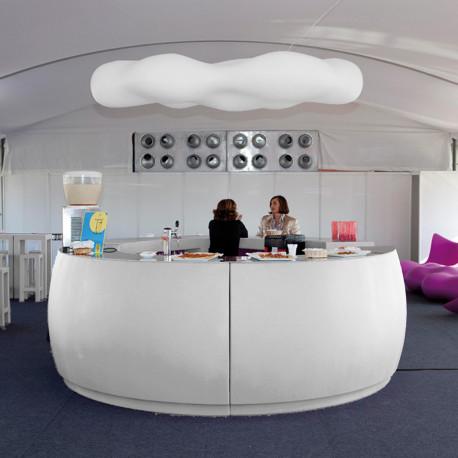 Banque d'accueil Round, élément d'angle, Proselec blanc Mat