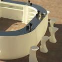 Banque d'accueil Round, élément droit, Proselec blanc Mat