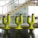 Pot design Cactus, Plust vert anis