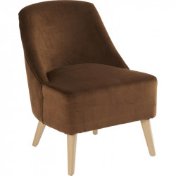 Fauteuil Crawford Velours caramel
