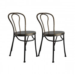 Lot de 2 chaises Paris métal, Hanjel