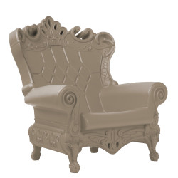 Fauteuil Trône Queen of Love, Design of Love by Slide, gris tourterelle