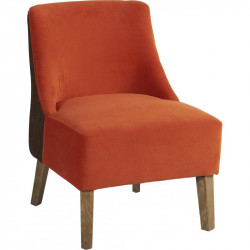 Fauteuil Crawford, Hanjel lie de vin/ orange
