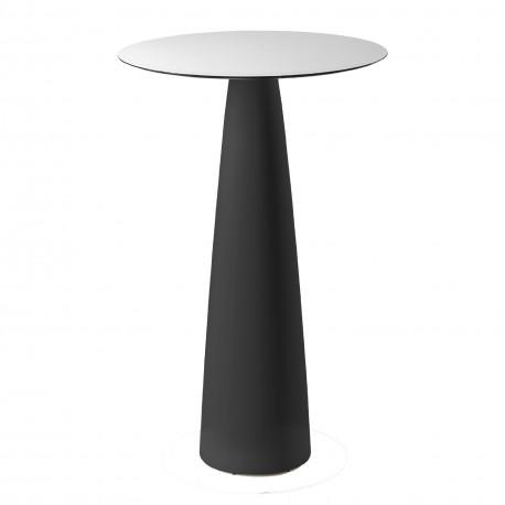 Mange-debout rond Hoplà, Slide design noir D69xH110 cm