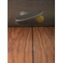 Table de réunion ping pong You & Me 220, RS Barcelona, plateau noyer, structure blanche