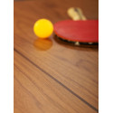 Table de réunion ping pong You & Me 220, RS Barcelona, plateau noyer, structure noire