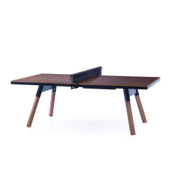 Table de réunion ping pong You & Me 220, RS Barcelona, plateau noyer, structure noire