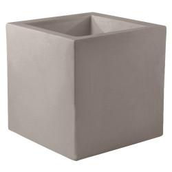 Pot Carré 60x60x60 cm, taupe, simple paroi, Vondom