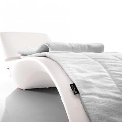 Serviette éponge pour chaise longue Zeo, MyYour blanc