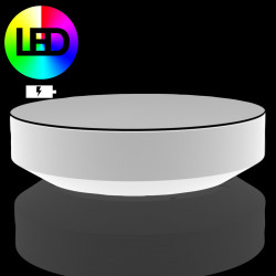 Table basse ronde Vela LED RGB à Batterie, Vondom, diamètre 120xH30 cm