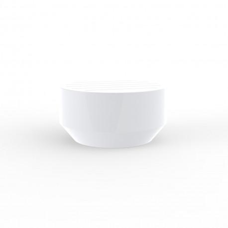 Table basse ronde Vela, Vondom blanc, diamètre 60xH30cm