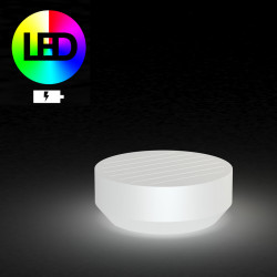 Table basse ronde Vela LED RGB à Batterie, diamètre 80xH30cm, Vondom