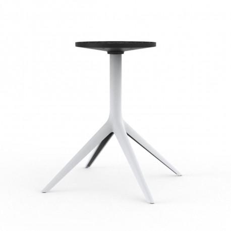 Pied de table Mari-Sol fixe, H 73 cm pour plateaux D120cm, Vondom, blanc