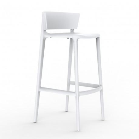 Tabouret de bar Pure hauteur d'assise 76 cm, Vondom blanc