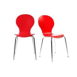 Lot de 2 chaises Lolipop, rouge