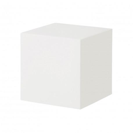 Table basse, tabouret Cubo In 40, Slide Design blanc 43 cm