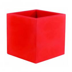 Pot Carré 60x60x60 cm, rouge, simple paroi, Vondom