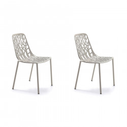 Lot de 2 chaises design Forest, Fast gris poudré