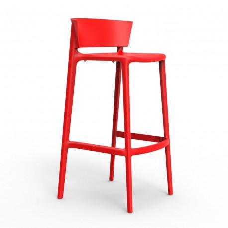 Tabouret de bar Africa hauteur d'assise 74,5 cm, Vondom rouge