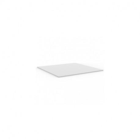 Plateau de table carré Mari-Sol ,Vondom blanc,bordure blanche 59x59 cm
