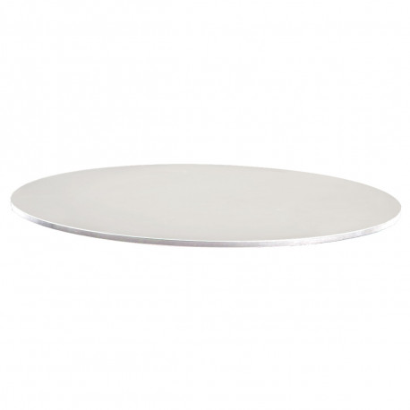 Plateau de table Faz, Vondom blanc, tranche blanche Diamètre 59 cm