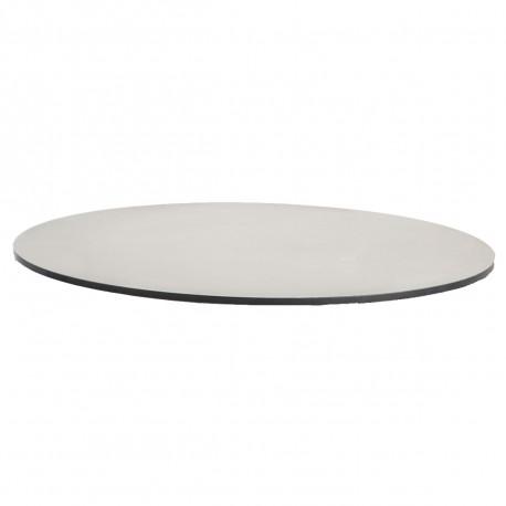 Plateau de table HPL blanc, tranche noire Diamètre 60 cm