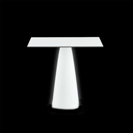 Table carrée Hoplà, Slide lumineux 79x79xH72 cm